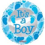 "BABY BLUE FOOTPRINT BALLON  18""  15141-18"
